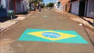Copa do Mundo 2014 - rua enfeitada em Araras SP