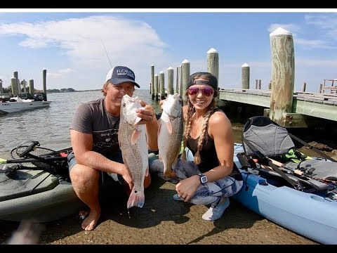 Kayak Redfish Fishing CATCH And COOK On The Half Shell (cajun Style)