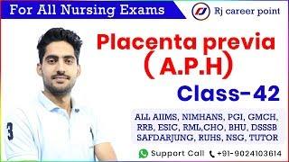 Placenta previa   Antepartum haemorrhage   APH   Nursing Officer & Staff Nurse Online Classes 