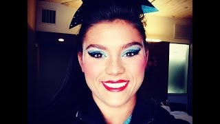 Cheer makeup tutorial by Senior Elite Molly Gibbons using Fancy Face Cosmetics