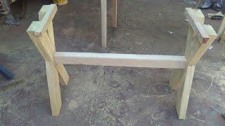 De madeira maciça pernas