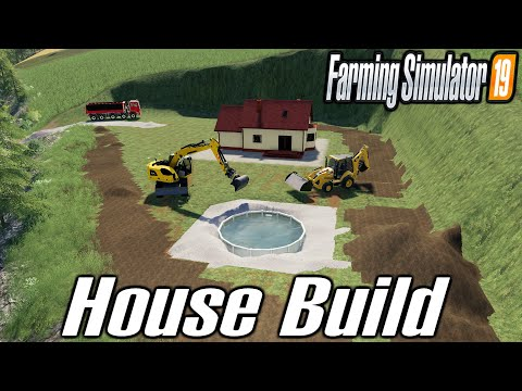 Build a house with pool and nice view  Farming Simulator 19  TP Pierrot Map