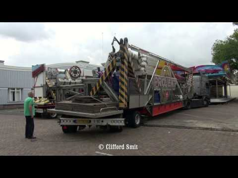 Kermis Lisse 2016 Transport en opbouw Deel 4