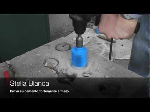Prova su cemento armato con i foretti diamantati youtube