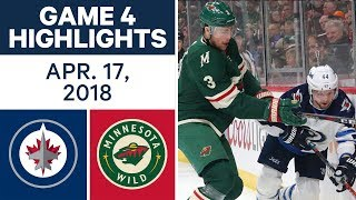 NHL Highlights | Jets vs. Wild, Game 4 - Apr. 17, 2018