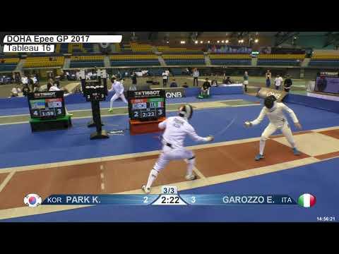 2018 387 M E Individual Doha QAT GP T16 08 red GAROZZO ITA vs PARK KOR
