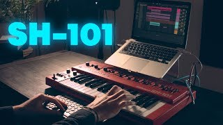 Making a song using only the Roland SH-101 synth