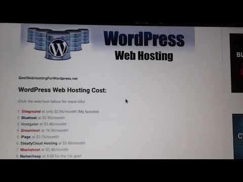 Top 8 WordPress Web Hosting (2017)