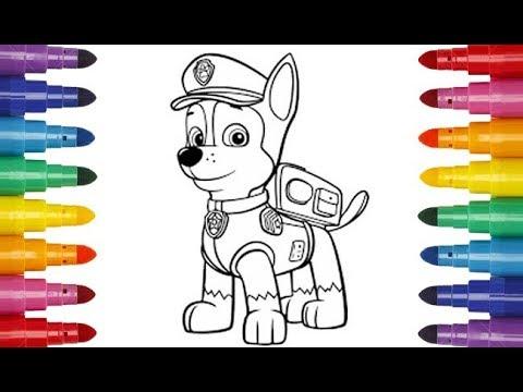 PAW Patrol Chase coloring Щенячий патруль Гонщик раскраска ...