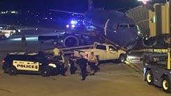 Man crashes truck into plane at Omaha Airport