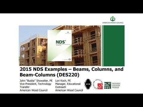 DES220 - 2015 NDS Example Problems - Columns/Beams/Beam-Columns