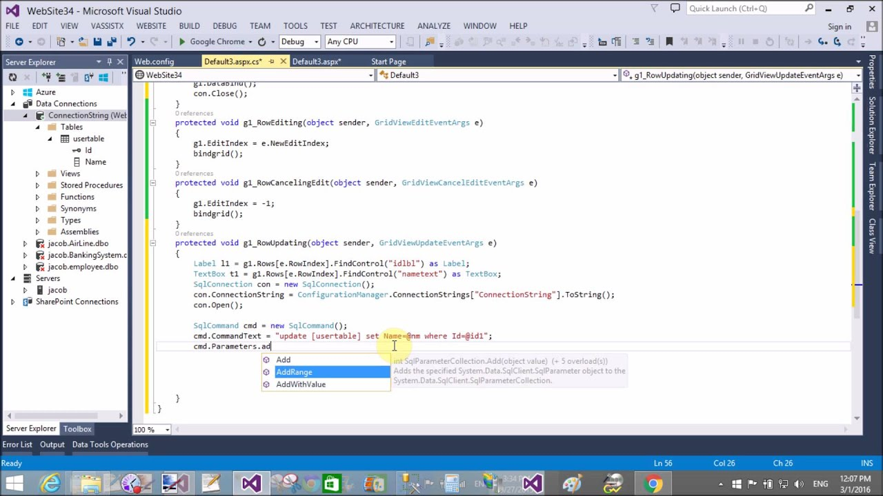 Rowupdating aspxgridview dynamic cell - LOOPYCOIN COM