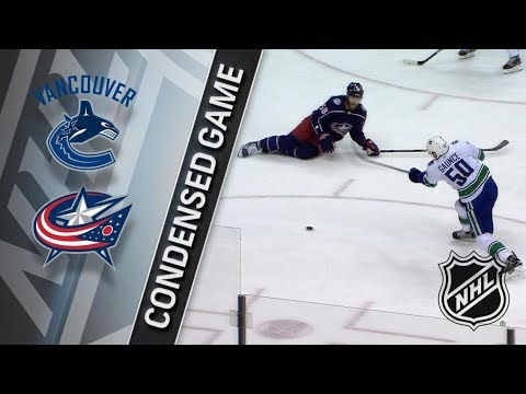 Vancouver Canucks vs Columbus Blue Jackets – Jan. 12, 2018 | Game Highlights | NHL 2017/18. Обзор