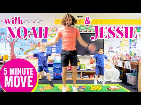 5 Minute Move Featuring Noah & Jessie | The Body Coach TV - YouTube