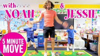 5 Minute Move Featuring Noah & Jessie | The Body Coach TV