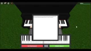 ROBLOX piano virtual-Rudolph o-Red-Nosed-rena