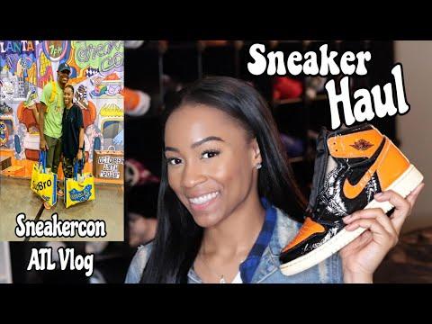 Try On Sneaker Haul + ATL SneakerCon Vlog