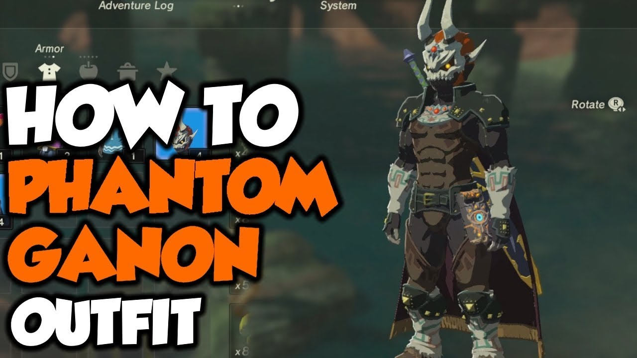 How To Get Phantom Ganon Outfit Legend Of Zelda Breath Of The Wild Dlc Pack 2