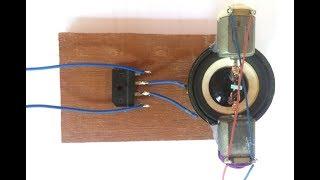 Experiment mini speaker as generator