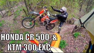 Honda Cr500AF & Ktm xc 300 beginings Enduro Tour Polen