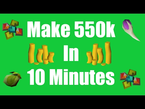 [OSRS] Make 550k in 10 minutes with No Risk - Daily Oldschool Runescape Money Malking Method !