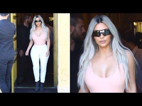 Kim Kardashian Grabs Lunch With Kourtney And Kris