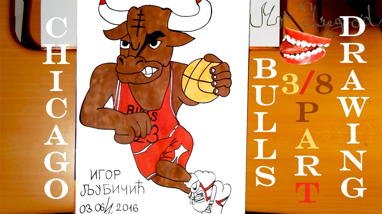 How to Draw Michael Jordan NBA Jersey Chicago Bulls Logo Step by Step Easy  for Kids | TUTORIAL 3/8
