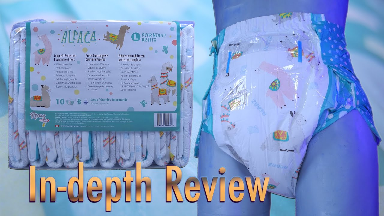 Rearz Alpaca Night-time  In-Depth Review  #adultdiaper