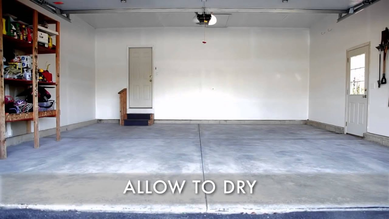 How To Use Rust Oleum Epoxyshield Garage Floor Coating Kit