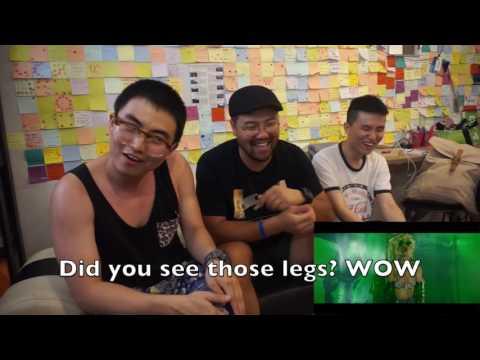 [Reaction#6] Koreans react to pour it up explicit...