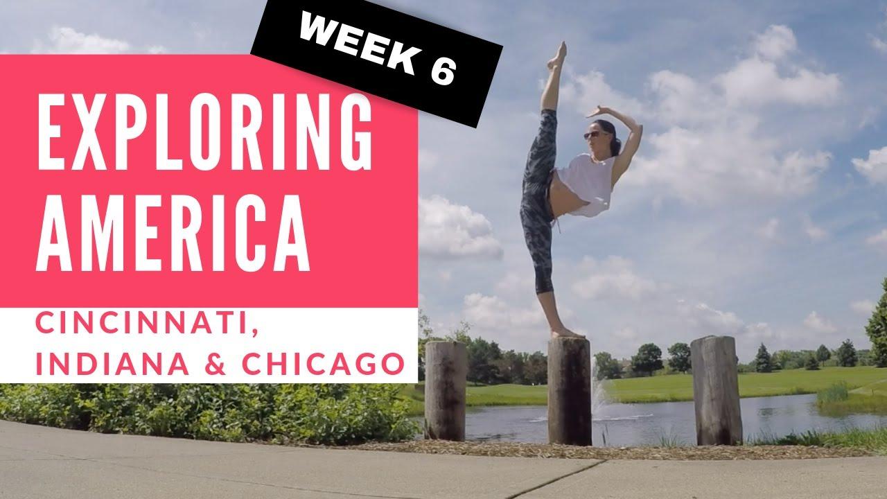 Chloe Bruce tours America   Cincinnati, Indiana & Chicago   My VLOG week