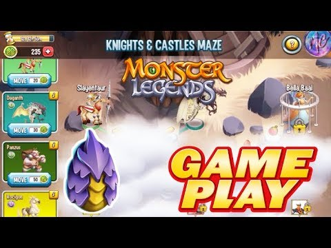 Monster Legends RPG | Knights & Castle Maze Island Gameplay | Crafting Eggeater Legendary