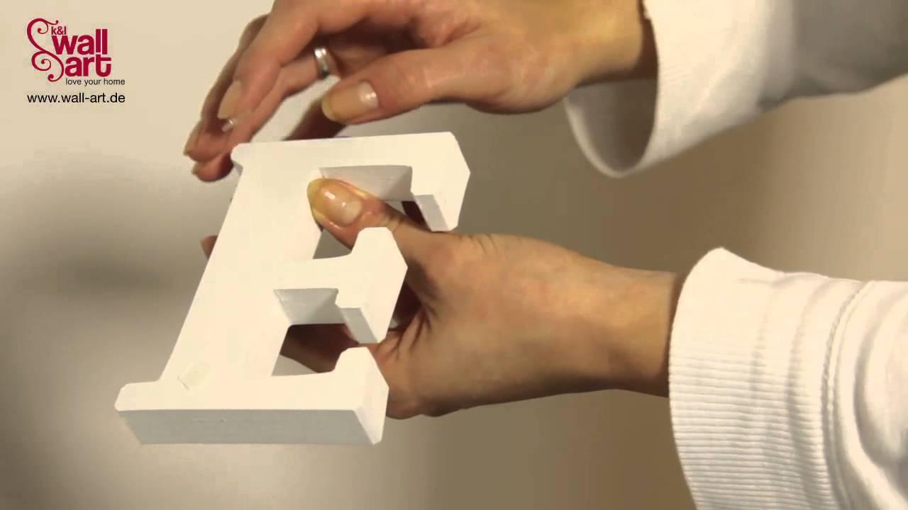 Dekobuchstaben - Lifestyle Typografien - YouTube