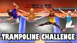 Trampoline Park Challenge with Disney Princess Characters (We Play Elsa, Aurora, Jasmine and Merida)