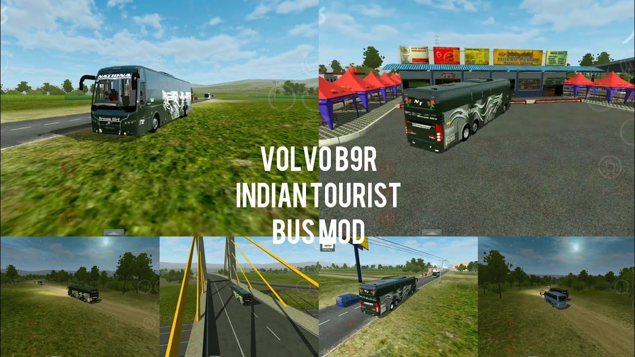 Bussid Bus simulator indonesia game in Indian National Tourist Volvo