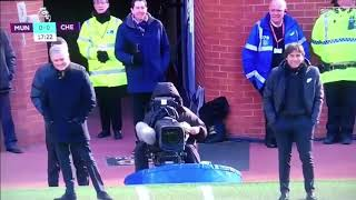 Mourinho and Conte funny moment during the game
