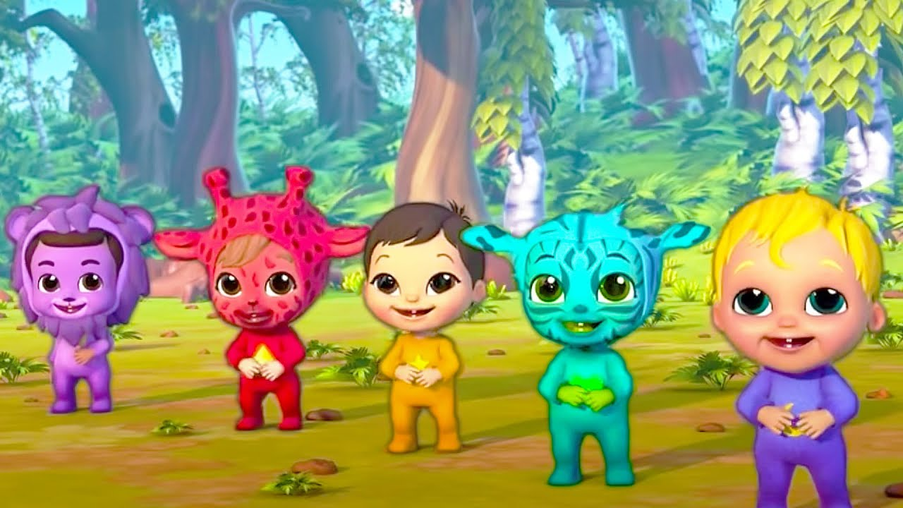Nookaboos Jungle Animal Face Paint + More Fun Songs About Animals | Baby Joy Joy!