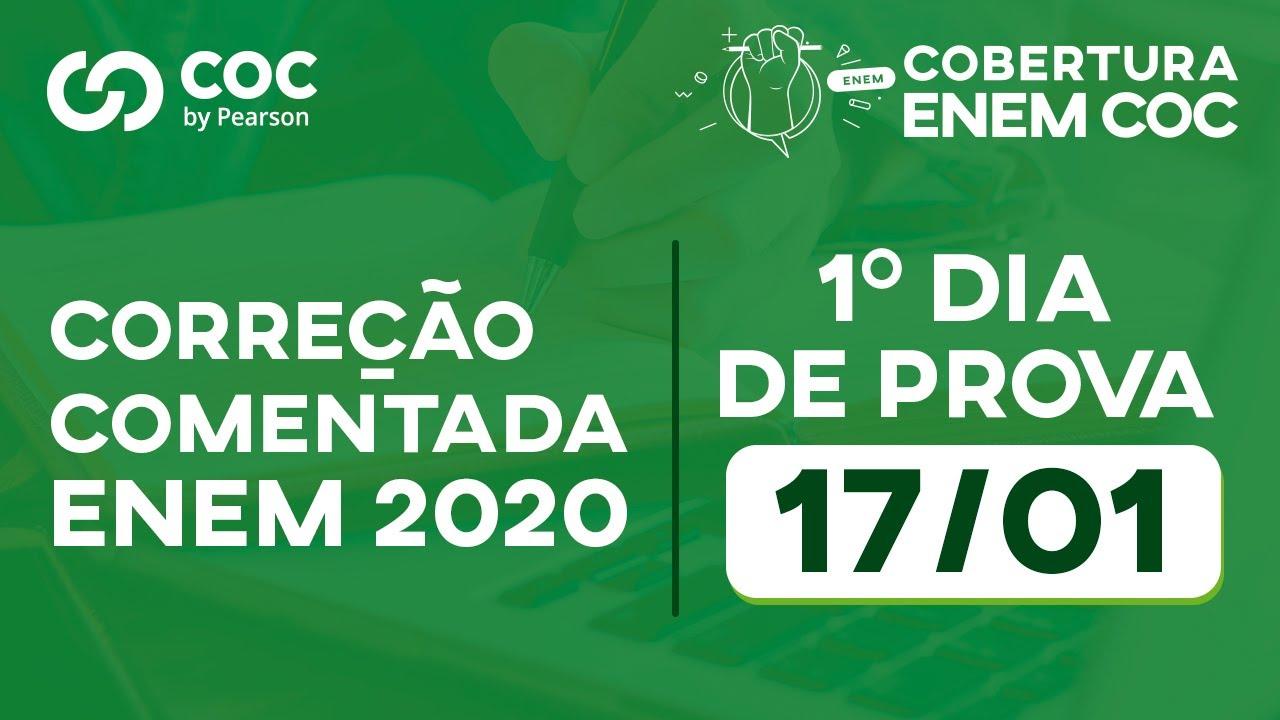 GABARITO ENEM 2020 - 1º DIA DE PROVA 17/01 - COC