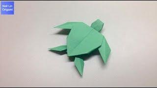 海龜摺紙教學 / 如何用一張紙就可以製作一隻立體海龜 創意手工折紙DIY (附說明字幕)
