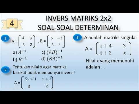 Invers Matriks 2x2 Determinan Matriks Singular