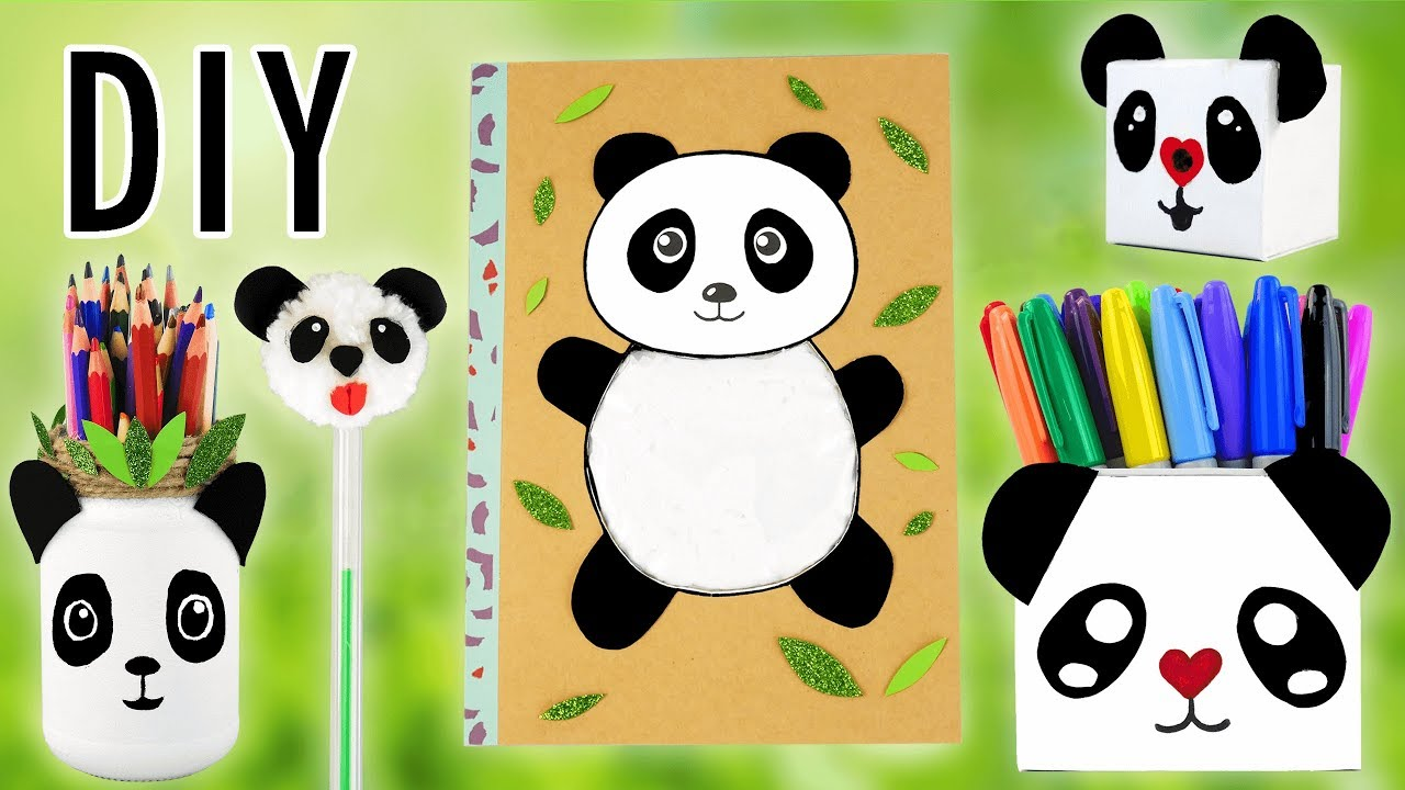Panda Kawaii Back To School 5 Idees De Fournitures Scolaires Tuto