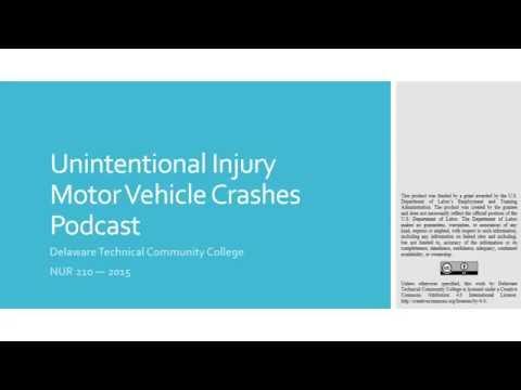 Unintentional Injury Motor Vehicle Crashes Podcast