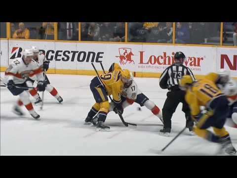 Predators fans toss oven mitts on ice after Arvidsson hat trick