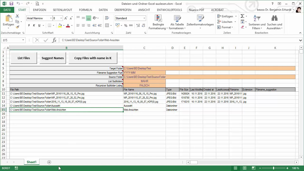 AGILEMENT - Dateien auslesen und kopieren mit Excel: Ordner und ...
