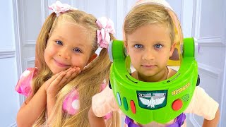 Diana and Roma - New Toy Story with Giant Surprise eggs