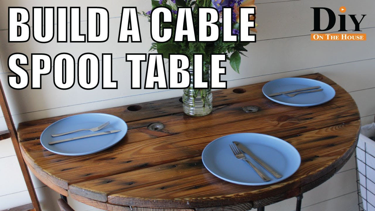 Cable Spool Projects Super Cool Cable Reel Table Recycled Wood Furniture Youtube