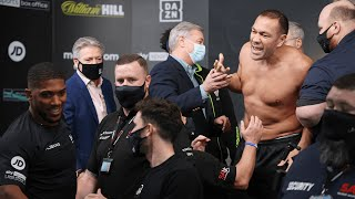 video: Anthony Joshua 'feels good' after clashing with Kubrat Pulev at feisty weigh-in