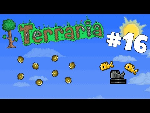 Let's Play Terraria Android Edition -Gold Coin Farm!- Episod