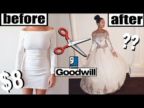 diy-thrift-store-wedding-dress-makeover!