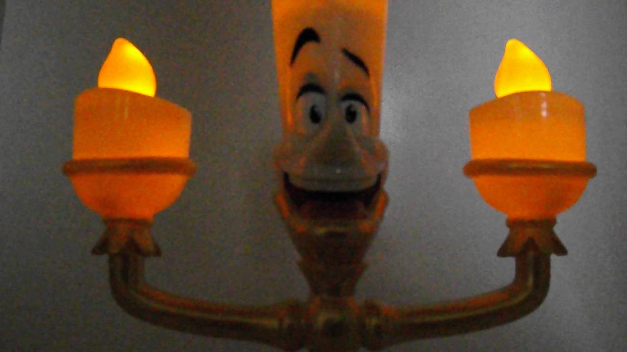 Disney Beauty The Beast Light Up Lumiere Be Our Guest Singing